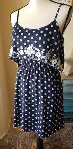 NWT!! Gorgeous blue & white polka dot dress